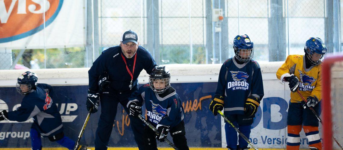 HCK Nachwuchs auf dem Eis beim Training